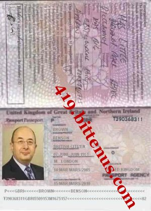 MR BENSON PASSPORT