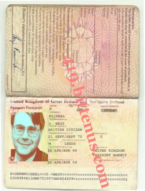 British passport       micheal west