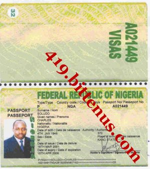 CHARLES SOLUDO INTERNATIONAL PASSPORT