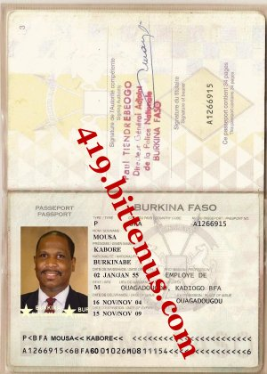 Kabore passport