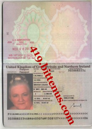 MRS CALDWELL GLORIA PASSPORT