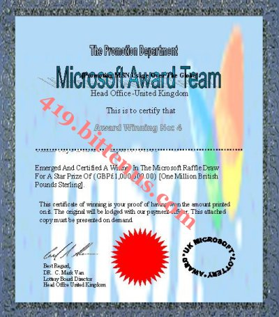 Microsoft_Award_Winning_Certificate No14