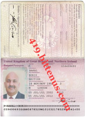 DR BORIS BAKAL Intl passport