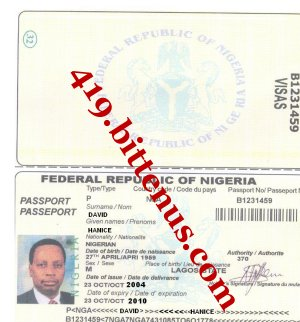 David hanice international passport