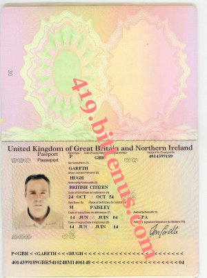 Gareth hugh passport