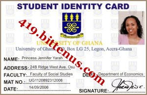 My SchoolIdentity Card