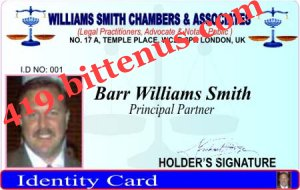 WILLIAMS SMITH ID       CARD
