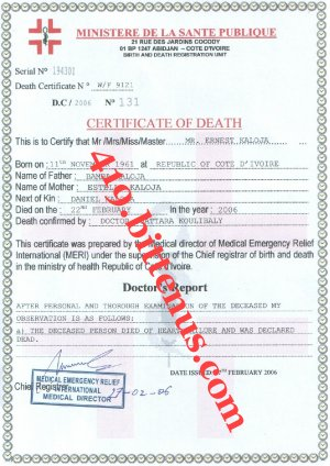 MY FATHERS DEATH CERTIFICATE