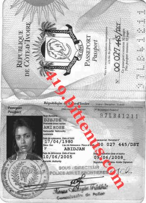 Photocopie passeport rose