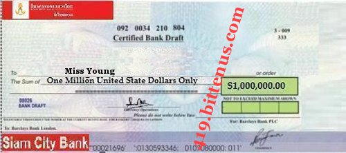 Young Attached is a copy of your winning draft cheque