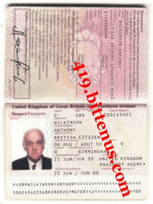 ANTHONY WILKINSON INTERNATIONAL PASSPORT