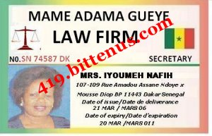 MRS IYOUMEH OFFICE ID