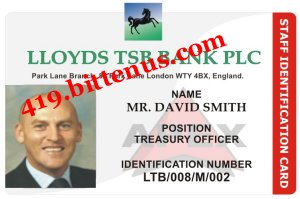 OFFICIAL IDENTIFICATION CARD FOR DAVID SMITH