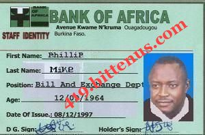 PHILLIP MIKE IDENTITY CARD