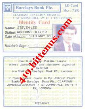 STEVEN LEE ID CARD