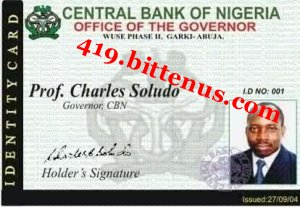 Copy of c.b.n bank working i.d card