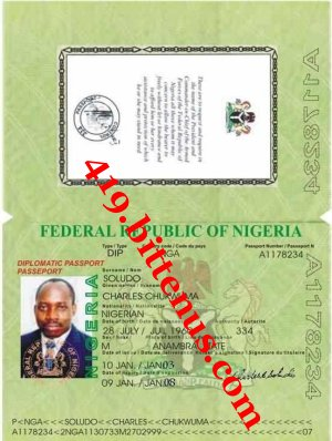 International  passport of  charles soludo