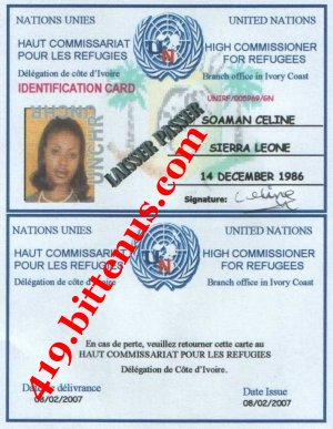 MA CARTE DE REFUGIE