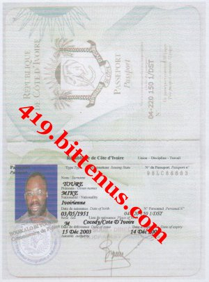 Mike Toure Passport