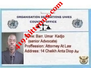 My lawyers id card