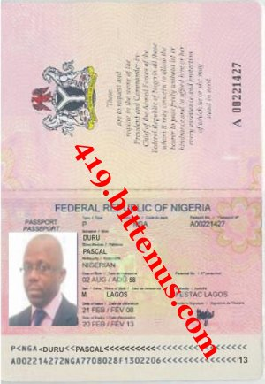 Pascal duru international passport