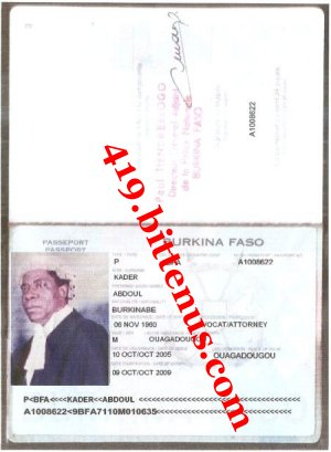Abdoul kader passport