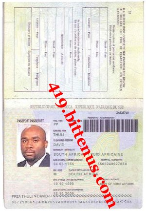 Passport Copy- DR11. DAVID THULI