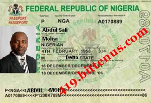 SIR ABDUL SALI MOHYI INTL PASSPORT