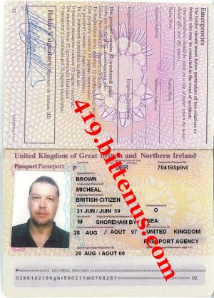 passport Michael Brown