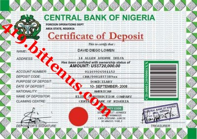 Deposit Slip DAVID DIEGO LOWEN