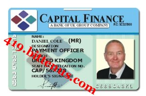 Id card mr daniel cole