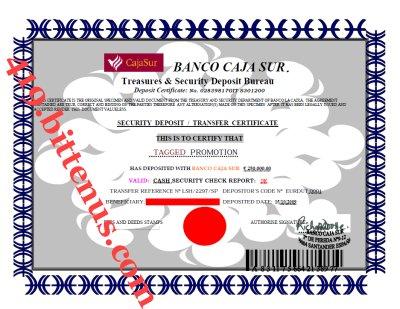 Certificates Of Deposit Spain
