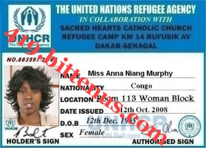 ID CARD refugee 1