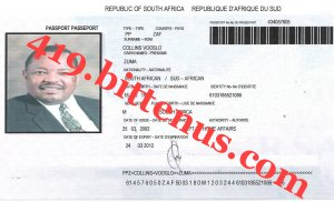 International Passport Mr.Collins Vooslo Zuma