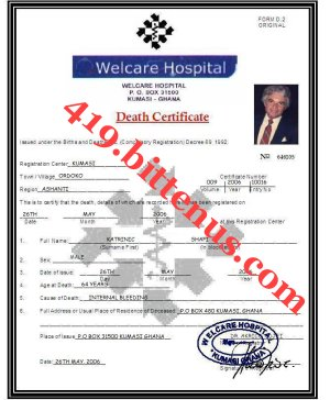 Shafis Death Certificate 1