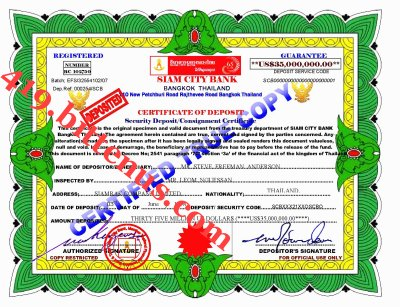 Siam City Bank Cert1