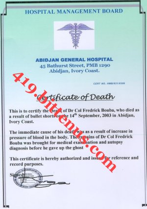 The death certificates 1