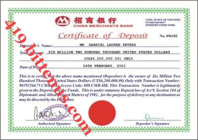 Certificates of deposit china china merchants bank us6200000 yelopaper Choice Image