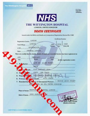 J Cole Family Death Certificates - U...