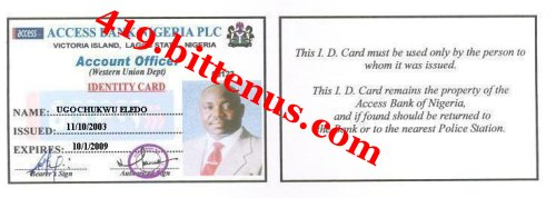 Account Officer ID Card