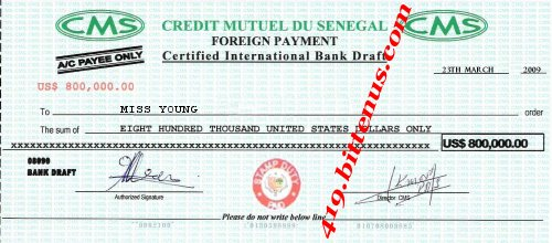 Draft Cheque