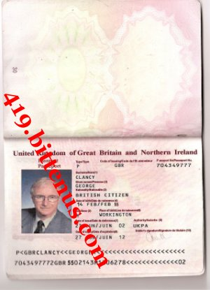 A copy of my international passport details 1