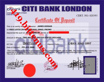 Certificates of deposit uk certificate of deposit of your winning funds thecheapjerseys Gallery