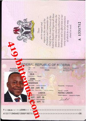 Passport PAUL OKA JOHN