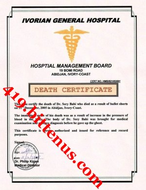 My dad death certificate