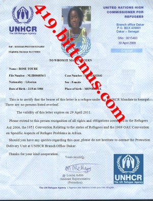 UNHCR-ROSE TOURE