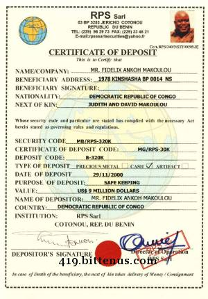 Certificates of deposit gambia atlas security sal 2 trunk boxes from the hajiah mariam sanni abacha story yelopaper Choice Image