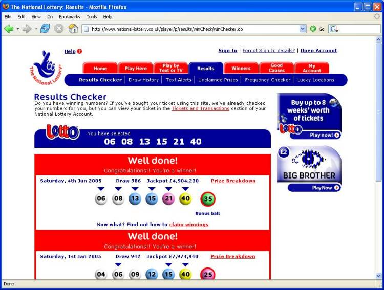 r&s lotto online result