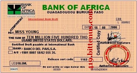 Bank of Africa, US$10,5M