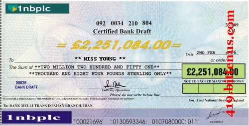 First National bank of England, £2,251,084